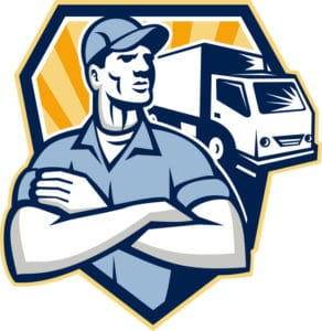 Removalists loading truck